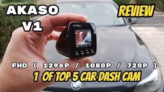 AKASO V1 CAR DASH CAMERA with GPS and WiFi Complete REVIEW