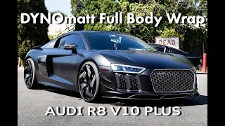 Audi R8 V10 Plus Full Body Wrap - STEK DYNOmatt