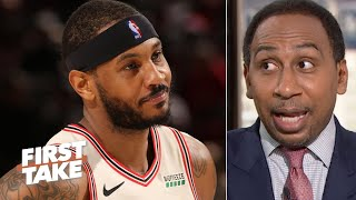 Stephen A is proud of Carmelo Anthony  First Take
