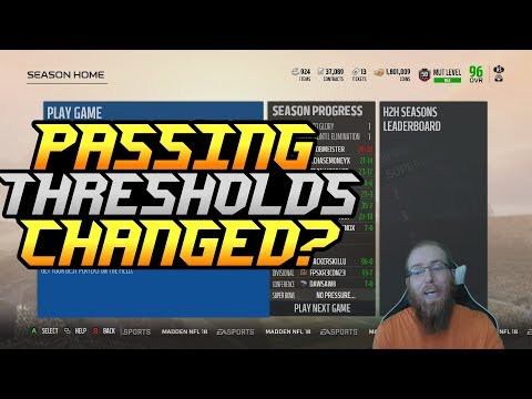 EA Changed the Passing Thresholds?! Super Bowl Gameplay! Madden 18 Ultimate Team