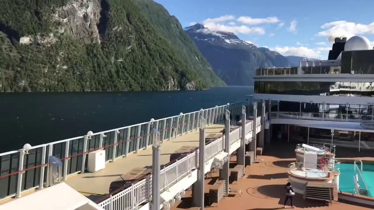 挪威峽灣仙境瀑布Geiranger / 挪威郵輪峽灣遊第四天 Cruising in Norway Fjords on Norwegian Jade Day 4 - YouTube