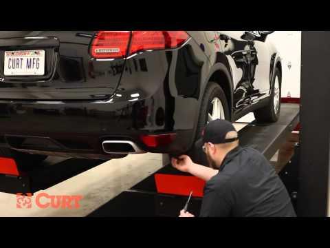 trailer hitch install curt 13116 on a 2011 porsche cayenne trailer hitch install curt 13116 on a 2011 porsche cayenne
