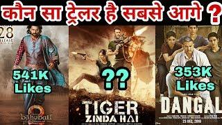 Which trailer won on social media   Tiger Zinda Hai   Dangal   Bahubali 2   Salman Khan