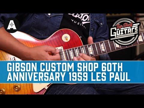 Top Shelf Guitars - Gibson Custom Shop 60th Anniversary 1959 Les Paul Standard in Factory Burst