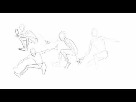 SPEED DRAW - Jumping Poses
