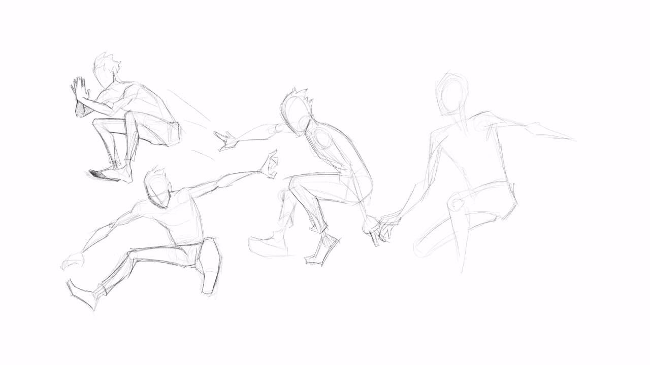 Speed Draw Jumping Poses Youtube
