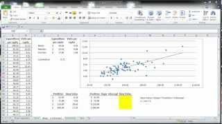 Excel Statistics 08 - Simple Linear Regression (Slope)