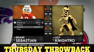 Thursday Throwback NCAA Football 14 (Mascot Game)