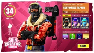 *NEW* FORTNITE CHARACTER SKIN CREATOR CONCEPT! (MASK - JACKET - GLOVES)