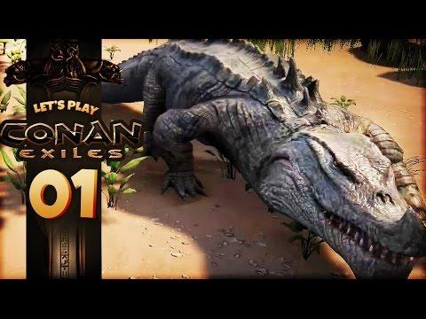 Conan Exiles | CROCODILE ATTACK! EPIC NEW SURVIVAL GAME (Conan Exiles Gameplay Part 1)