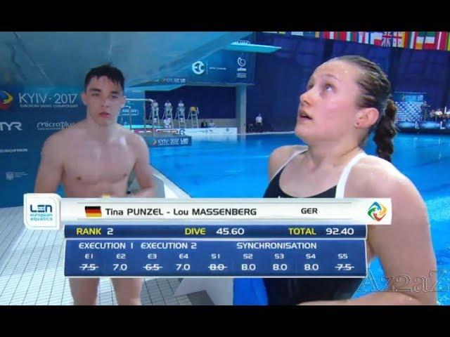 Tina Punzel / Lou Massenberg  Sprung ins Wasser