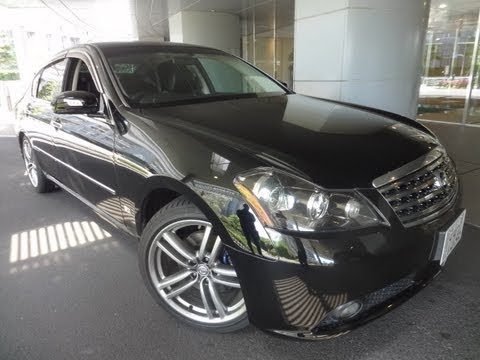 2006 Infiniti M45 >> 2006 Nissan Fuga 450 GT Stylish Black Edition for Sale Tokyo Japan - YouTube