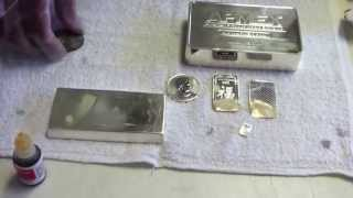 How to Test .999 Silver bar and Fake Silver  -- Easy Acid Test