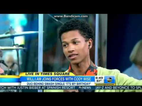 Cody Wise Talks Will.I.Am Up In GMA Interview