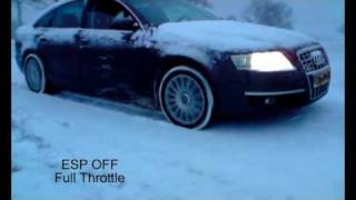 Audi A6 3.0 TDI Quattro in the snow + ESP test