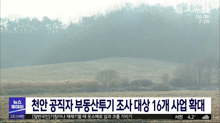 천안 공직자 부동산투기 전수조사 16개 사업 확대/대전MBC