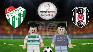 Bursaspor Beşiktaş  Maç Özeti 2-2 (LEGO SÜPER LİG MAÇ ÖZETLERİ)/ Lego Football Goals Highlights