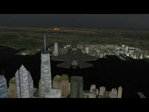 F-35 In Thunderstorm Over Manhattan