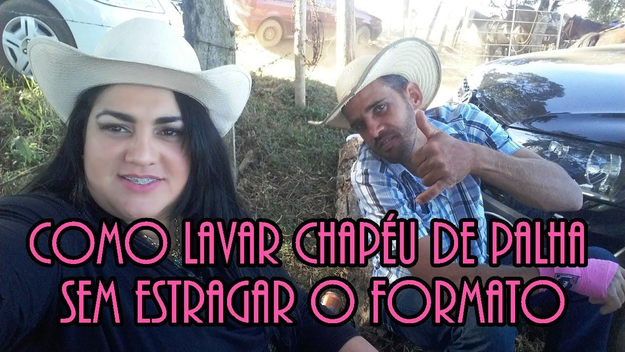 COMO LIMPAR CHAPÉU DE PALHA SEM ESTRAGAR O FORMATO. - YouTube 7a176b007c9