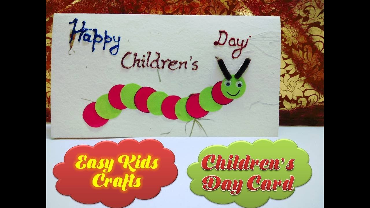 How To Make Caterpillar Card Childrens Day Handmade Kids Crafts