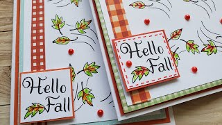 Hello Fall Card | Use Your Scraps | Mindless Crafting Stamps