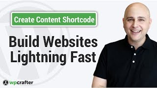 how to create custom content shortcodes to make website setup changes faster