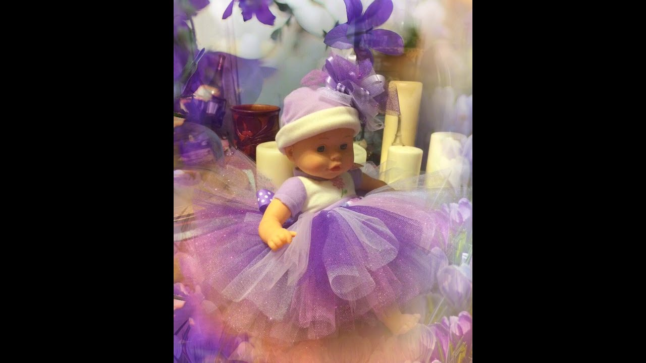 Make A Tutu For Babies Newborn To 3 Months Bitty Baby American Dress Flower Pink 0 2th Girl Dolls 18 Inch Youtube