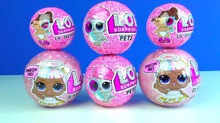 LOL lil Sisters Serie 4 LOL Glam Glitter LOL Pets Überraschungsbälle sehr seltene LOL Surprise Puppe
