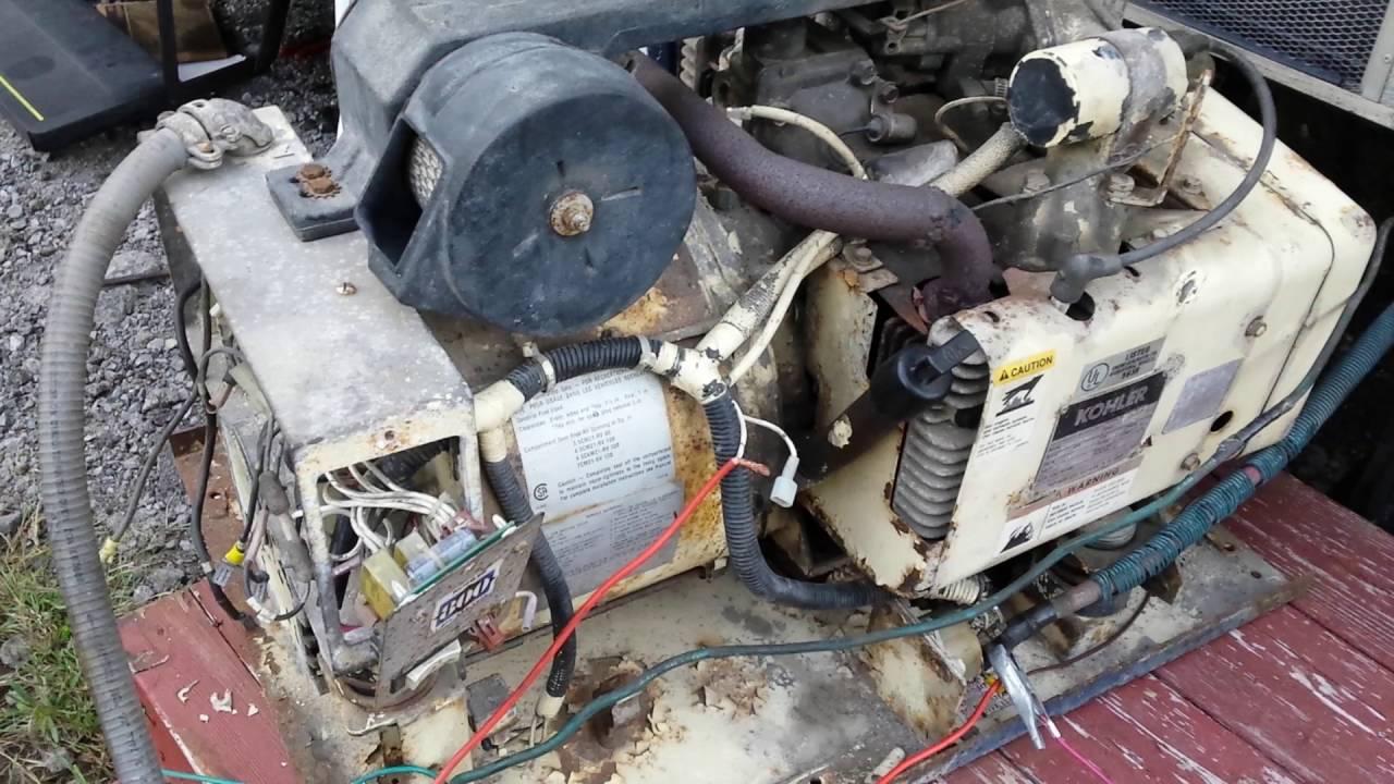Rv Generator Repair On A 1992 Kohler 3600 Watt Youtube Wiring Diagram Free
