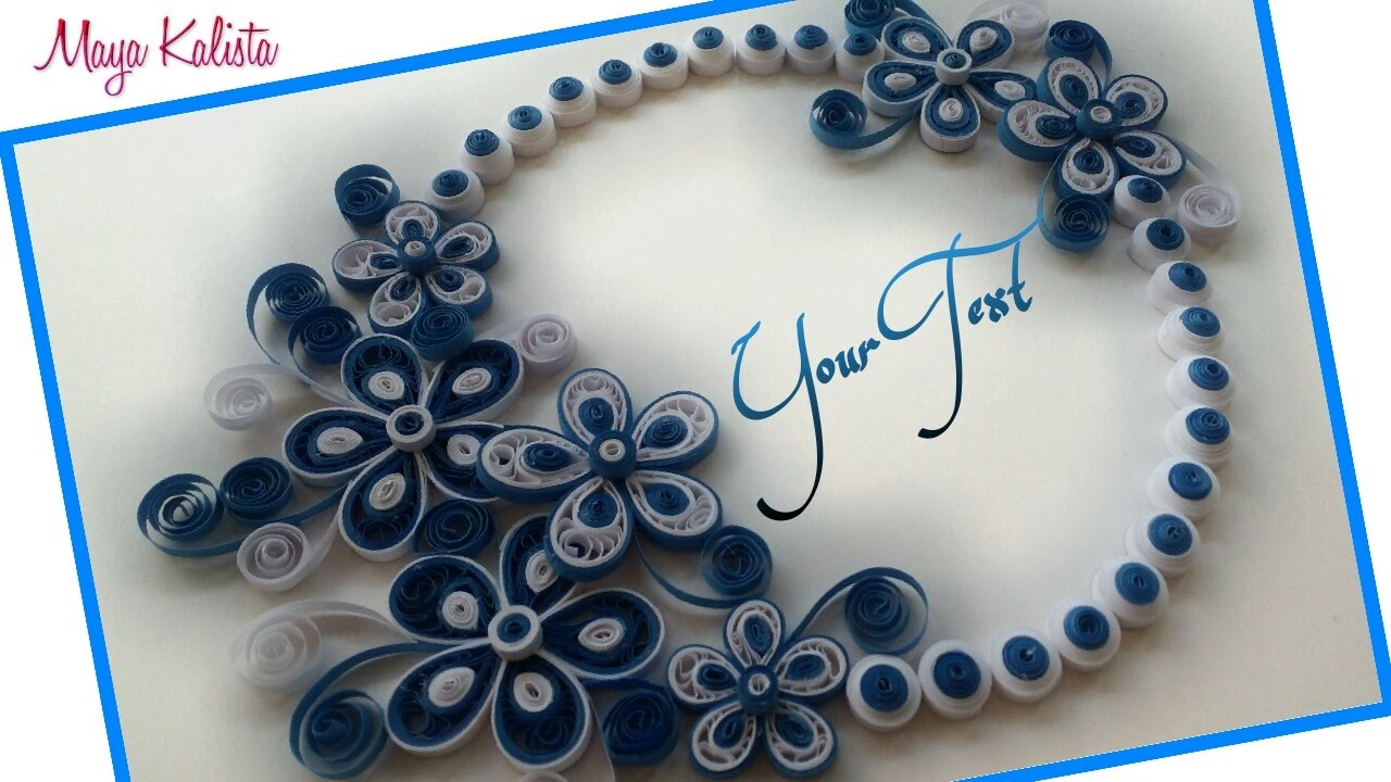 DIY Crafts How To Make Paper Quilling Greeting Card Design
