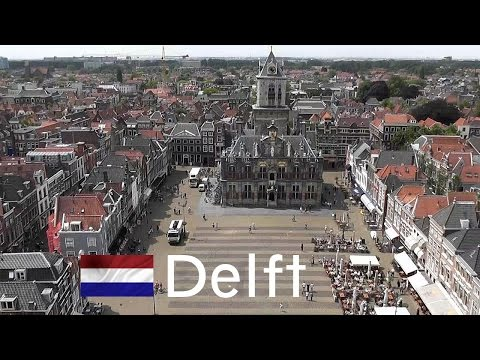HOLLAND: Delft city - view from church tower [HD]
