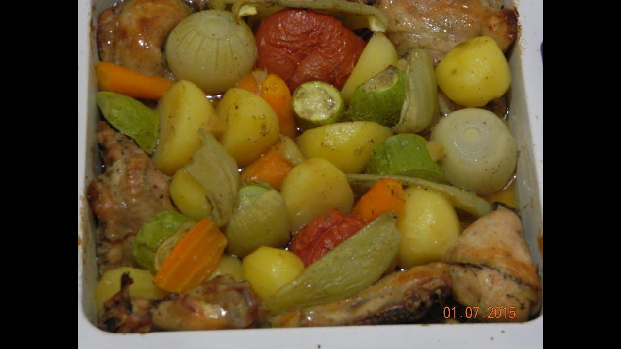 куриные ножки в духовке с овощами рецепт с фото