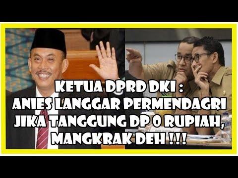 Ketua DPRD: Anies L4ngg4r Permendagri Jika Tanggung Bunga DP 0 Rupiah, Mangkrak Deh!