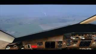 FSX-- DHL B757F Landing at Leipzig Halle --HD