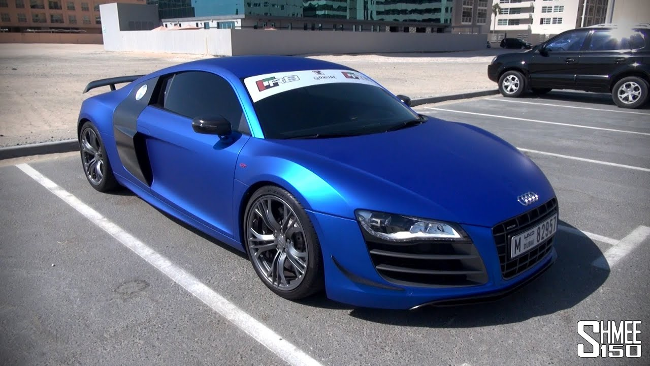 Audi R8 Gt Satin Chrome Blue Onboard Ride And Sounds