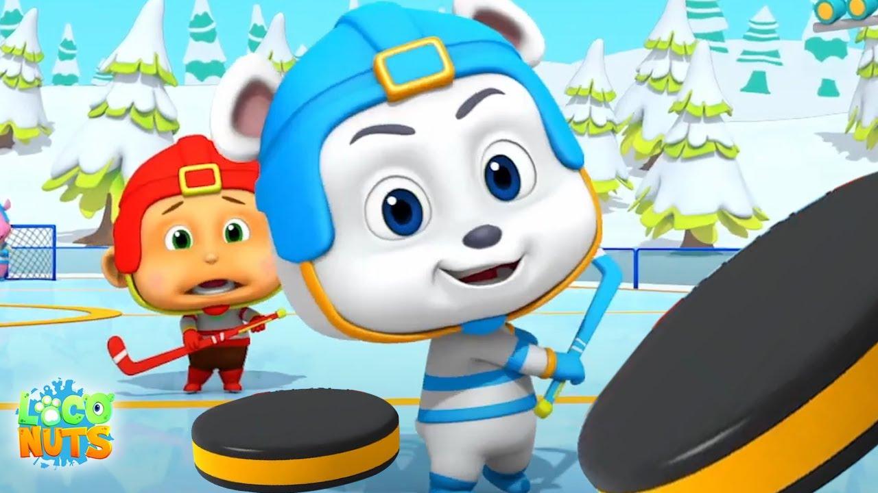 Хоккей на льду   мультфильмы для детей   детские видео   Loco Nuts Russia   веселые