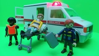 PLAYMOBIL Rescue Ambulance - Unboxing & Learning About Paramedics with PLAYMOBIL Toys Set 5681