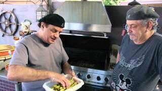 The Backyard Chefs - Grilled Steak With Shrimp Leek Sauce