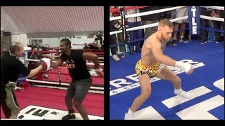 HILARIOUS! - DAVID HAYE DOES HIS IMPRESSION OF CONOR McGREGOR RUBBER ARMS TRAINING