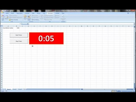 how to create a countdown timer clock in excel and vba youtube