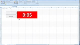 How to Create a Countdown Timer Clock in Excel and VBA