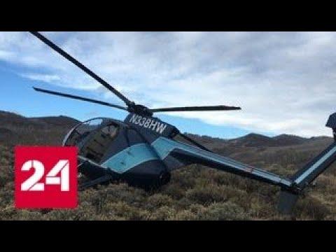 Олень сбил преследовавший его вертолет в США - Россия 24