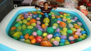 swimming Pool water Balloon കൊണ്ട് നോറച്ചപ്പോൾ 🔥 I Filled My Swimming Pool with Water Balloons 🔥