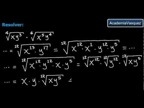 Multiplicación de Radicales de diferente Índice, Ejercicio 1 - YouTube