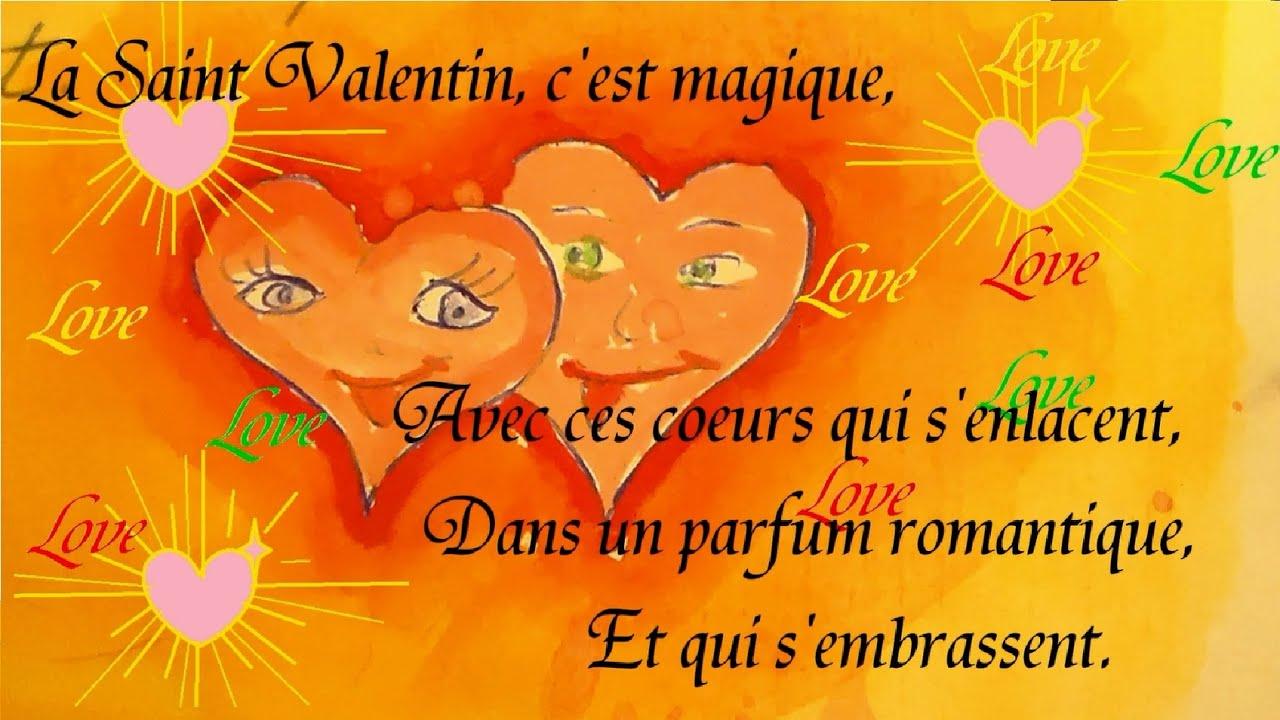 Poésie Pour La Saint Valentin Des Cœurs à Offrir