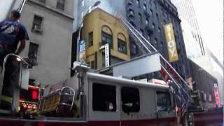 FDNY Truck 4, Engine 54 Smoldering Building, Hook and Ladder Deployment (Windows Opened not Broken)