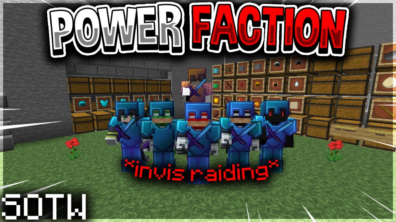 Teaching a Power Faction how to Invis Raid on SOTW... | Minecraft HCF