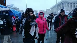 Зажигательные танцы активистов SaveФОП перед маршем 28 01 21 г