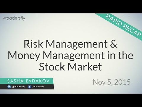 Risk Management & Money Management in the Stock Market
