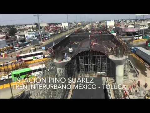 Presenta maqueta y supervisan obras del tren interurbano México - Toluca